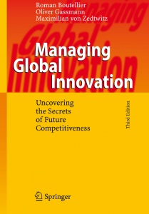 Cover of the book Managing Global Innovation. Uncovering the Secrets of Future Competitiveness