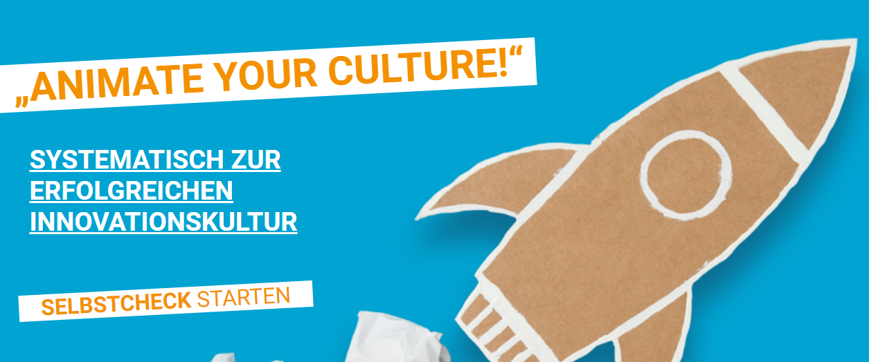 Banner mit Schriftzug Animate your culture