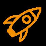 Orange Rakete